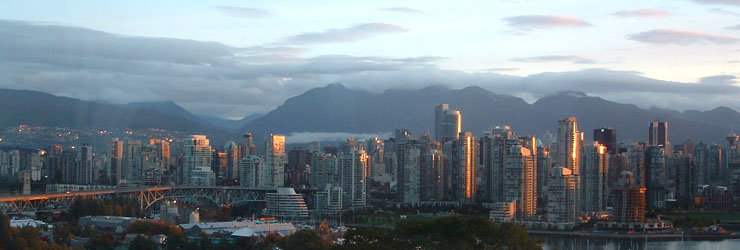 Vancouver skyline at dawn